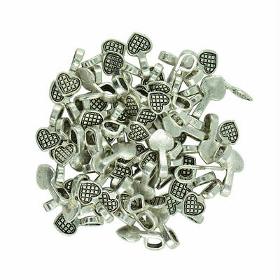 100pcs Glue on Bail for Earring Bails Pendants Charms Jewelry DIY Findings