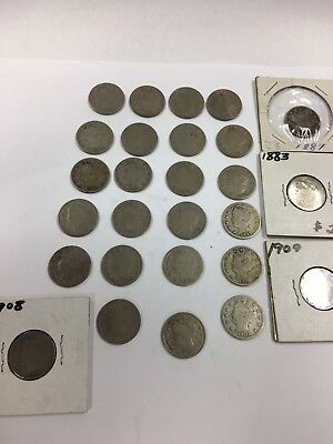 "Lot of 23 Liberty Head ""V"" Nickels NO RESERVE!!!"
