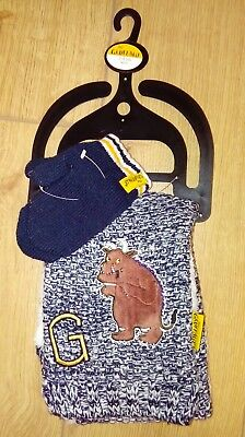 New Boys The Gruffalo Winter Black and White Scarf and Mitten Set Age 2/3 Yrs