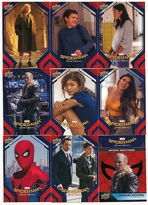 Spider-Man Homecoming Complete Set (100 Cards)   2017 Upper Deck