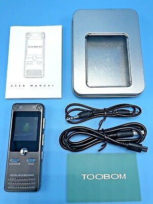 TOOBOM R63 16GB Sound Audio Recorder and FM tuner!  Very Nice!