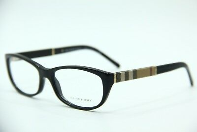 8b3014d94b10 New Burberry B 2167 3001 Black Eyeglasses Authentic Frames Rx B2167 54-16