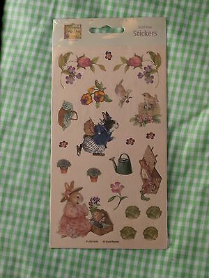 Holly Pond Hill Spring Themed Stickers, Susan Wheeler Rabbits Wren Easter Bunny