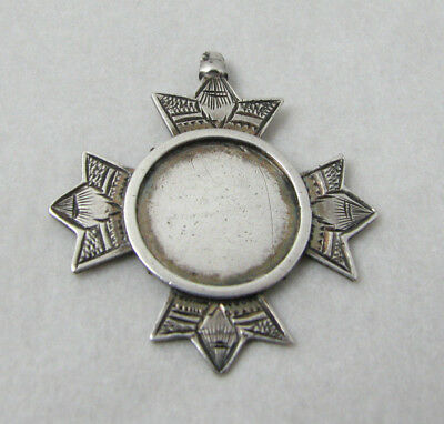 Antique Silver Cross Medallion pendant, William James Dingley,  Birmingham 1889