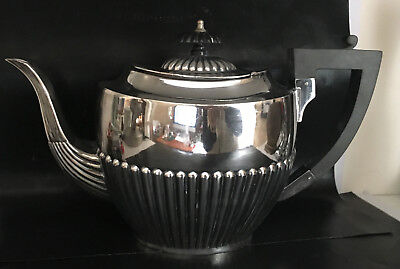 Antique Vintage Silver Plated Regency Style Tea Pot mid 1800's