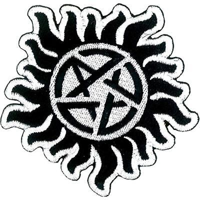 Supernatural Anti Possession Patch Tattoo Pentagram Licensed Embroidered Iron On