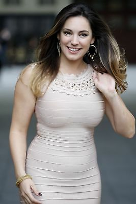 GLOSSY PHOTO PICTURE 8x10 Kelly Brook With Fitted Suit