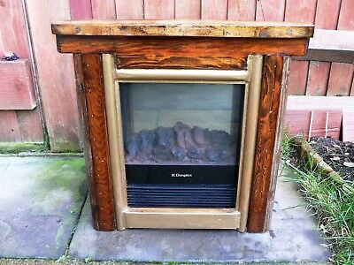 Vintage Dimplex Electric Heater MCF15R Solid Wood Surround