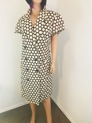 CATO WOMEN\'S DRESS Plus Size 22W Brown Ivory Polka Dot Cap Sleeve ...