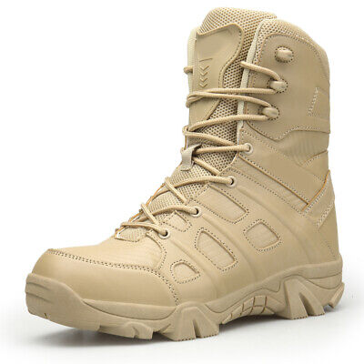 30710a7690f MENS ARMY TACTICAL Comfort Leather Combat Military Ankle Boots New Desert  Shoes