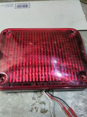 USED Whelen 900 series SMARTLED 90R00FRR RED MULTi FLASH PATTERN  01-06837385R0B