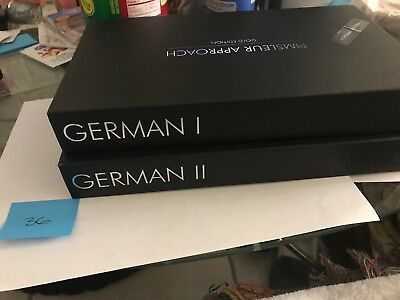Pimsleur Approach German Level I and II Gold Edition 1 and 2 Excellent Cond.