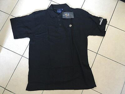 """Cougar Bourbon Whiskey Mens Black Embroidered S/S Polo T-Shirt """"NOS"""""""