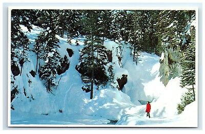 Postcard Winter Small's Falls, Rangeley, Maine unposted A2