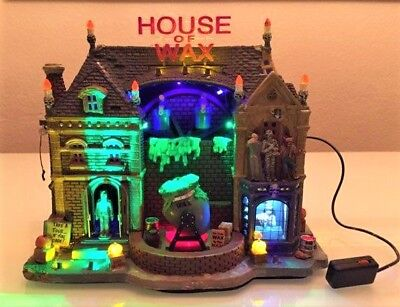 NEW Lemax Spooky Town Collection HOUSE OF WAX #95827 Halloween (READ LISTING)