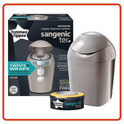 Tommee Tippee Sangenic Hygiene Nappy Disposal System Wrapper TUB Refill Cassette