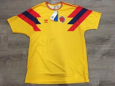 Adidas Colombia 1990 World Cup Carlos Valderrama Jersey Men Size XL Ce2338 a2eb7a41d