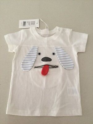 Brand New Seed Baby Dog T-shirt With Zip Mouth Size 0, 6-12 Months