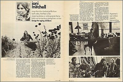 1970 vintage print article Singer JONI MITCHELL 2pg Article 061117