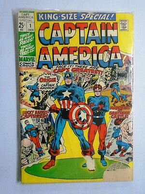 Captain America (1st Series) Annual #1, Cover Detached - Reader Copy (1971)