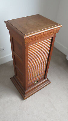 Antique Inlaid Roll Front Timber Pedestal