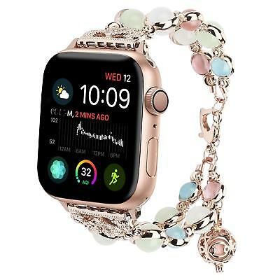 Tomazon Apple Watch Band 38mm Adjustable Crystal Pearl iWatch Bracelet Replaceme