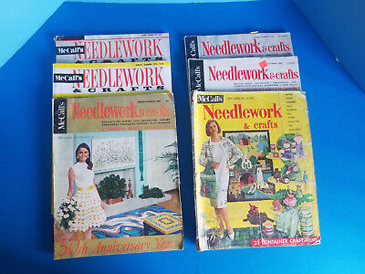 Vintage McCalls Needlework & Crafts Magazine 1964, 67, 68, 69 72 73 Lot of 6