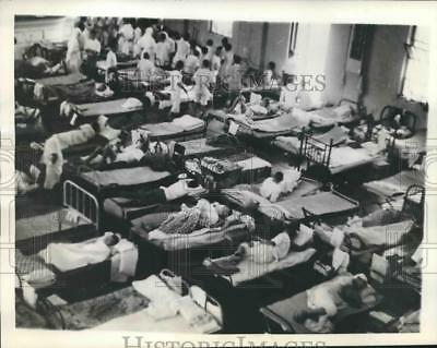1937 Press Photo World War II - Chinese Wounded by Japanese, Shanghai