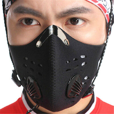 Bike Bicycle Riding Mask Gas Filter Protection Face Head Respirator Anti-Dust TH