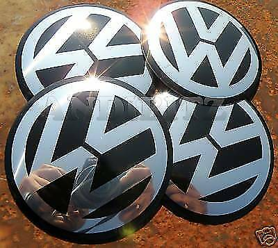 n.4 VOLKSWAGEN VW NERO mk5 mk4 Tappi Cerchi Wheel 90mm 90 mm GOLF POLO BEETLE