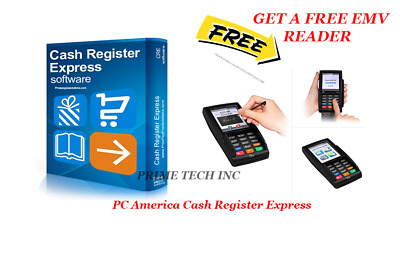 Cash Register Express PRO CRE PC AMERICA FREE EMV CHIP READER
