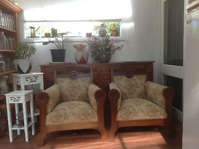 Antique lounge and dining suite.