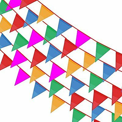Pennant Banner 164ft Rainbow String Curtain Banner,140pcs Flags For Party Event