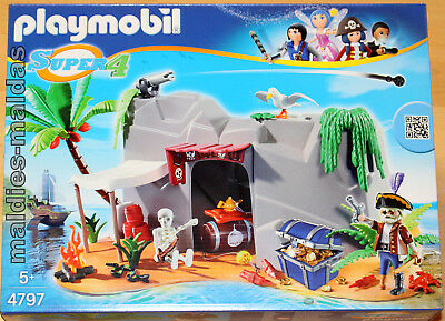 Playmobil 4797 Super 4 Piraten Höhle NEU/OVP