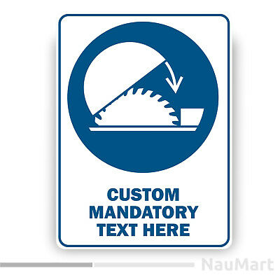 ST461 Sticker GENERAL MANDATORY SIGN WITH CUSTOM TEXT in any language M001