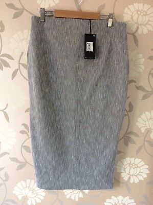 Next maternity grey strech pencil skirt size 10 work office new with tags