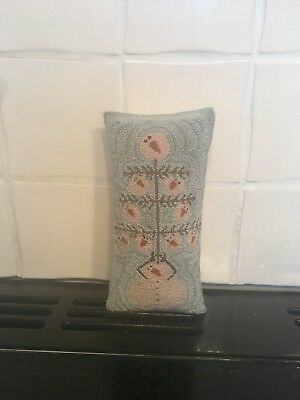 American Americana Folk Art Needle Punch Cushion Snowman Christmas