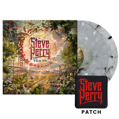 """STEVE PERRY """"Traces"""" 180 G WHITE MARBLE Colored Vinyl 2 LP BRAND NEW (JOURNEY)"""