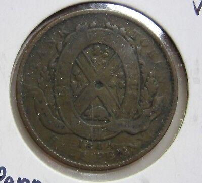 1844 Province of Canada-Bank of Montreal Half Penny Token-VG