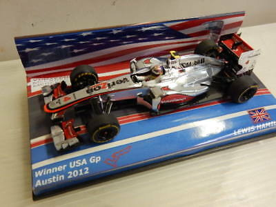 F1 McLaren Mp4-27 #4  Lewis Hamilton 2012 Austin USA GP Winner Minichamps 1/43!