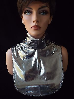 Ladies SILVER LAME Evening Dickey Turtleneck Collar LAST DAY FOR SHIPPING 12/18