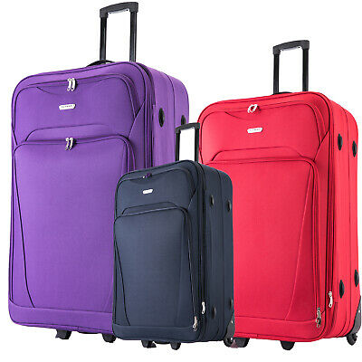 """28"""" Super Lightweight Large Suitcase Expandable Luggage Travel Trolley Cases"""