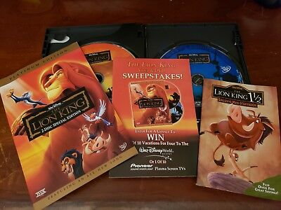 The Lion King DVD 2-Disc Set Platinum Edition w/ Exclusive Inserts & Slip Cover