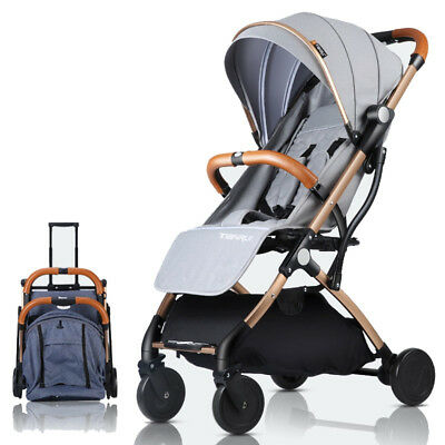 Baby Stroller Push Chair Travel Outdoor Portable Foldable W Raincover Carry Bag