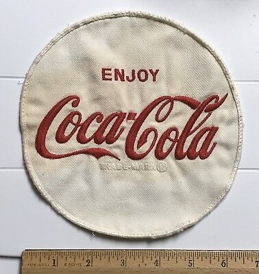 "Enjoy Coca Cola Coke White Round 6.5"" Embroidered Uniform Back Jacket Patch"