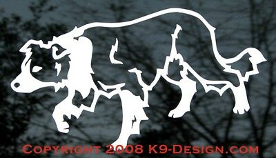 Border Collie Herding - White Sticker/decal - Approx 4''x6''