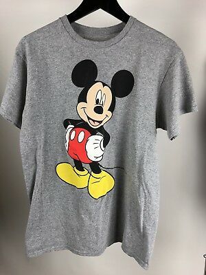 12c65e08 DISNEY VINTAGE MICKEY Mouse All Star Mens Gray Short Sleeve Graphic ...