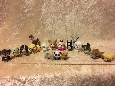 Puppy In My Pocket Jungle In My Pocket Flocked Animal Figure Lot Of 17