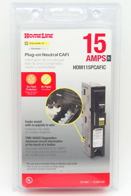 Square D by Schneider Electric HOM115PCAFIC Homeline Plug-On Neutral 15 Amp