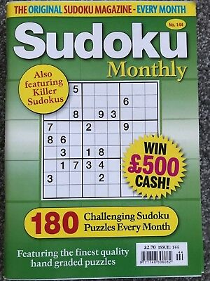 Sudoku monthly puzzle book